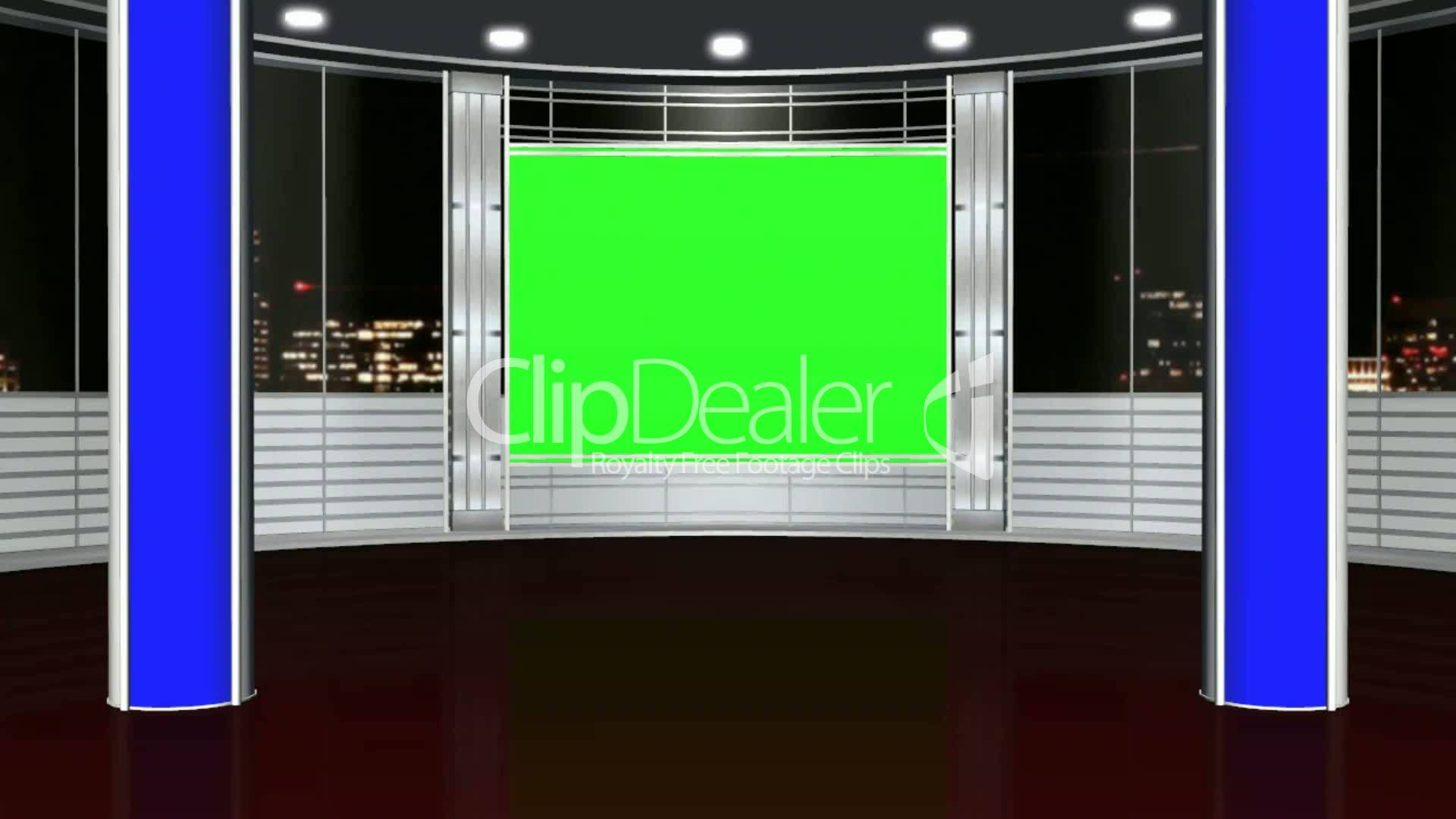 Virtual Studio Background Green Screen Royalty Free Video And