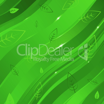 abstract linear background with leaves for design