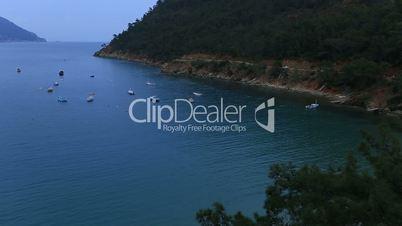 famous place Adrasan bay and beach