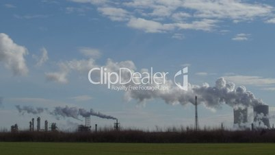 coal power station pollution time lapse pan 11302