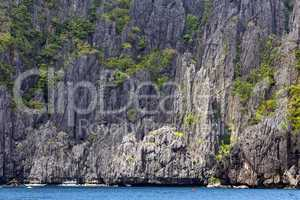 limestone cliff in palawan