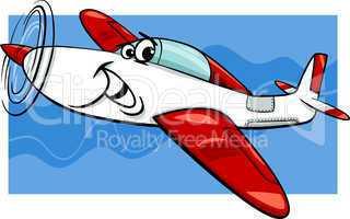 low wing air plane cartoon illustration