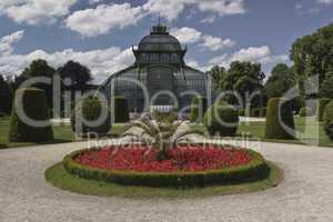 Botanischer Garten, Wien, Park, Anlage, Natur, Weg, spazieren, Büsche, Busch, Beet, blumen, Gewächshaus, Pavillion