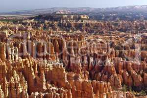 Bryce Canyon, Sonnenuntergang, orange, Felsen, Nationalpark, national, park, naturwunder, Gesteinsformation, Baum, einsam,