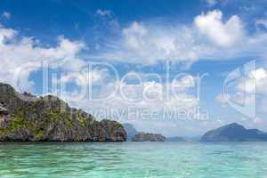 scenic view of bacuit bay in palawan province