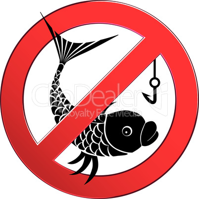 No fishing sign vector depicting banned activities