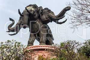 huge elephant statue