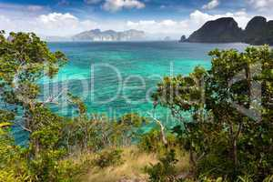 tropical sea landscape