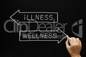 wellness or illness concept