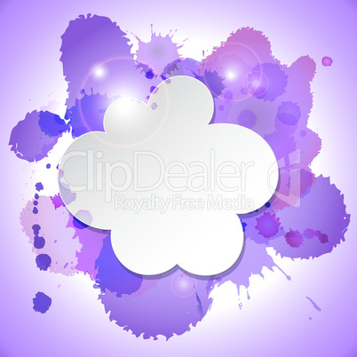 Abstract speech bubble cloud with blots
