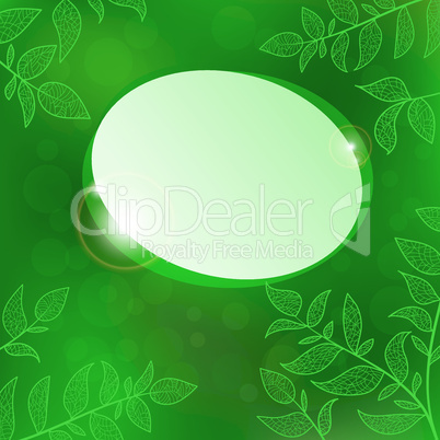 Abstract speech bubble nature background