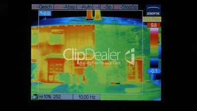Thermografie eins Doppelhauses - Displayansicht