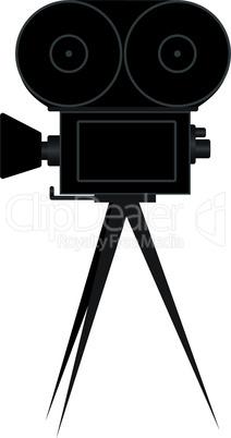 Silhouette of movie camera
