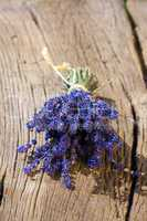 scented lavender bundle lying on table