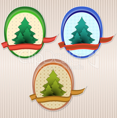Ecology retro vector badge