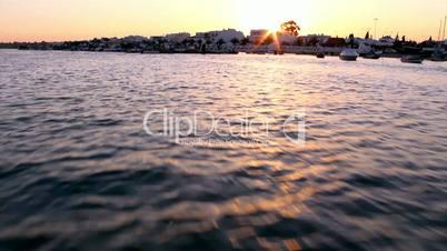 Ria Formosa boat travel. Algarve. Portugal.