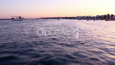 Boat trip in Ria Formosa. Algarve. Portugal