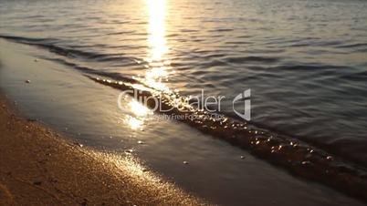 Waves in Terra Estreita beach. Algarve. Portugal