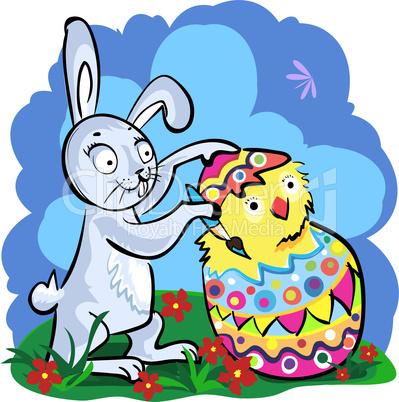 Cartoon Easter bunny