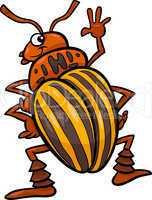 potato beetle insect cartoon illustration