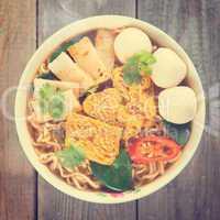 vintage instant noodle