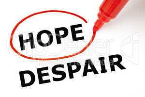hope or despair red marker