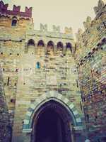 Retro look Albertis Castle in Genoa Italy
