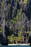 palawan beach and limestone cliffs