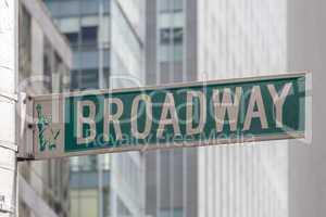 broadway roadsign