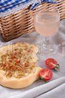 onion tart and federweisser(nouveau)