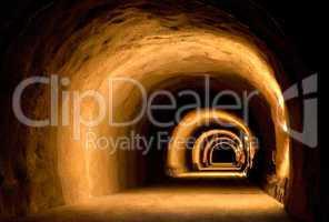 optische dynamik einer tunnelbaustelle