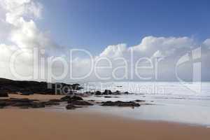 Moroccan coast in Dar Bouazza