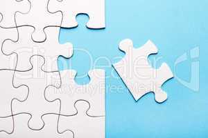 White puzzle piece missing