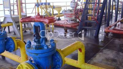 Offshore gas production platform facilities