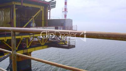 Offshore gas production platform processing equipment