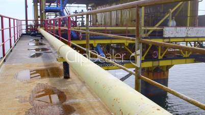 Offshore gas production platform in the East-Kazantip field
