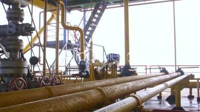 Offshore gas production platform components