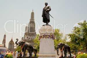 Bangkok, Wat, Ratchaburana, Park, Tempel, Thailand, himmel, blau, architektur, buddhismus, erleuchtung, garten, heilig, meditation, religion, religiös, ruhe, schrein, statue, zeremonie, sauber, schönheit, Denkmal,