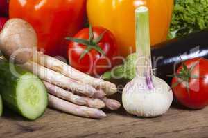 gesundes gemüse für die vegetarische küche