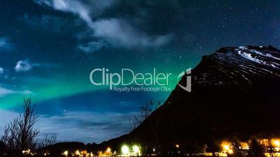 aurora borealis auf den lofoten