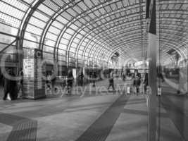 Black and white Torino Porta Susa station