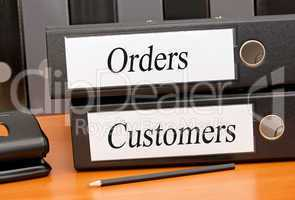 orders and customers
