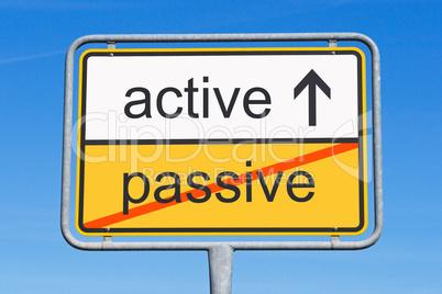 active instead passive