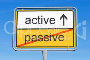 active instead passive