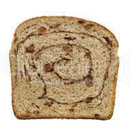 cinnamon swirl raisin bread slice