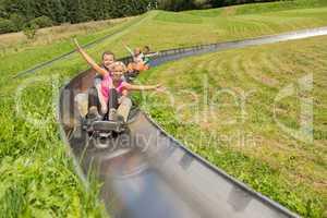 couples enjoying alpine coaster luge