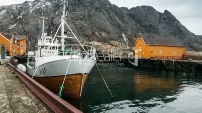 Hafen von Nusfjord auf den Lofoten