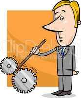 saboteur businessman cartoon illustration