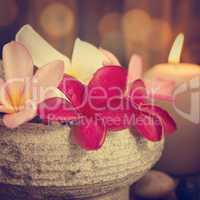 spa still life setting with aromatic candles