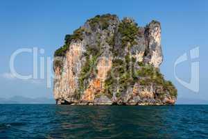 steep limestone island
